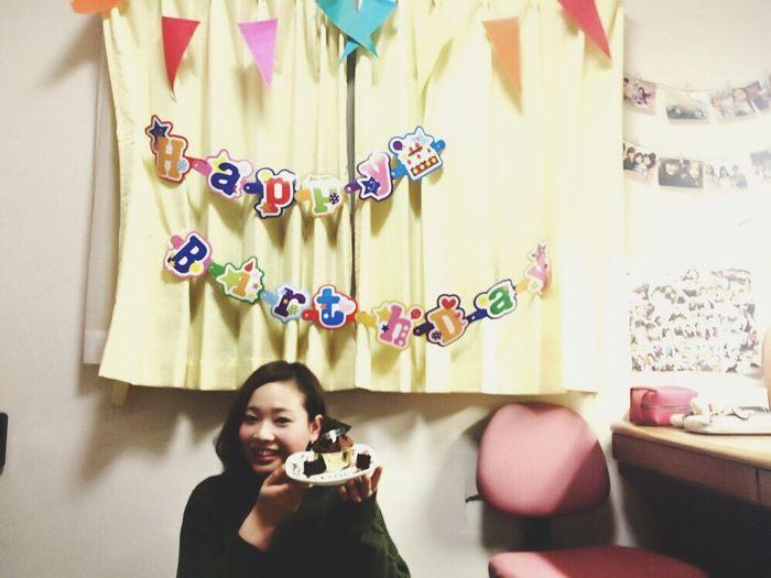 夜はお家にて、サプライズお祝い🎉🎉 手料理 ケーキ プレゼント 2016/2/2 My Birthday With Mybestfriend Love Happy Happyday