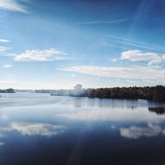 Water Blue Lake Reflection Sky Horizon Over Water Landscape Cloud - Sky Water Surface Infinity