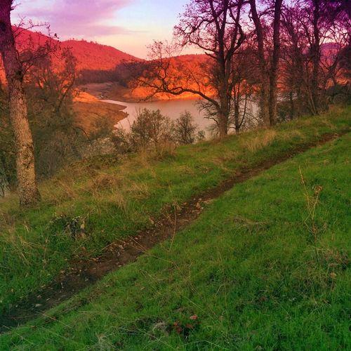 Trail Running Sunrise FolsomLake Salmon Falls