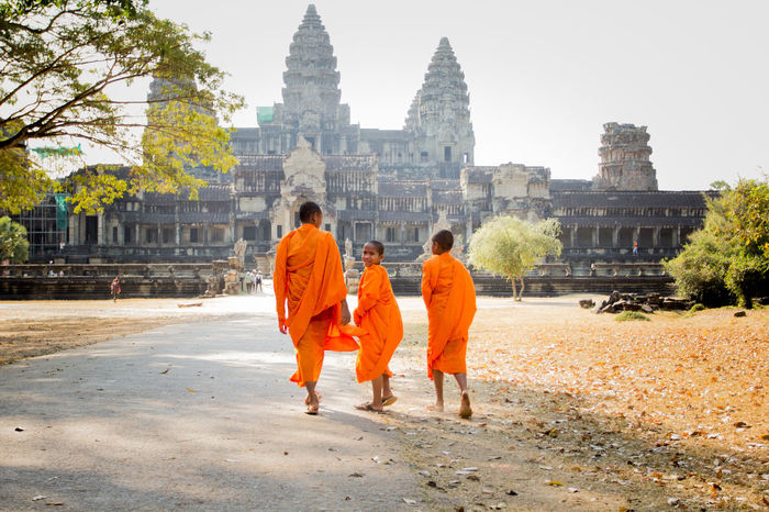 Ankor Thom Ankor Wat Cambodia Archaeology Architecture Old Ruin Place Of Worship Real People Religion Spirituality Tourism Travel Destinations