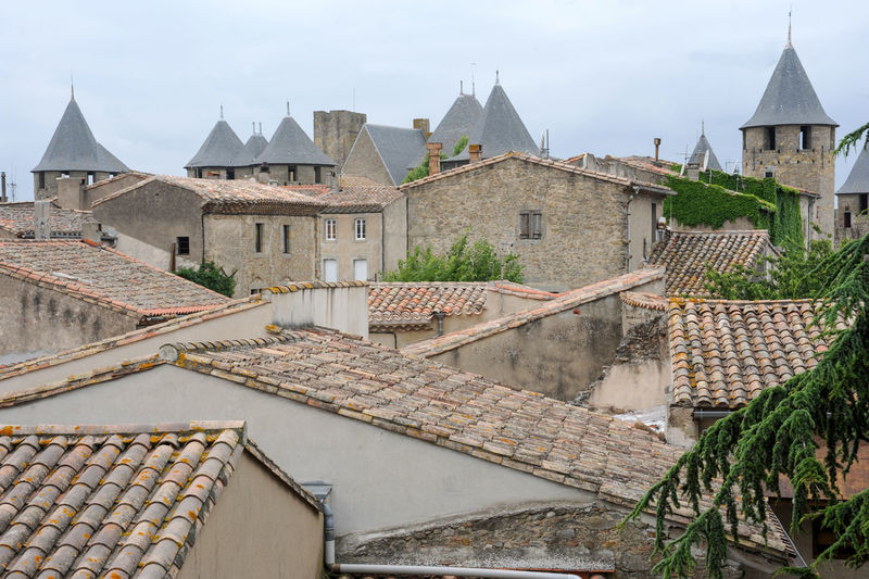 Carcassonne on France Carcassonne France 🇫🇷 Architecture Built Structure Building Exterior Building Roof House Nature Residential District City Sky No People Town Outdoors Day Water Community Village The Past Travel Destinations Roof Tile Location