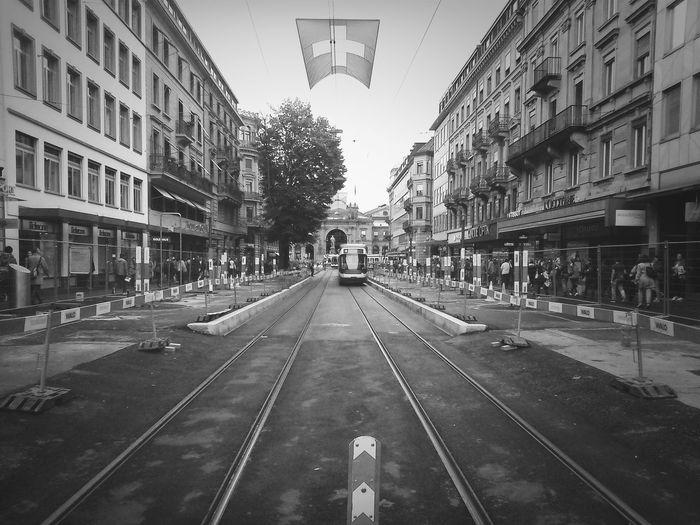 City Street Between Buildings