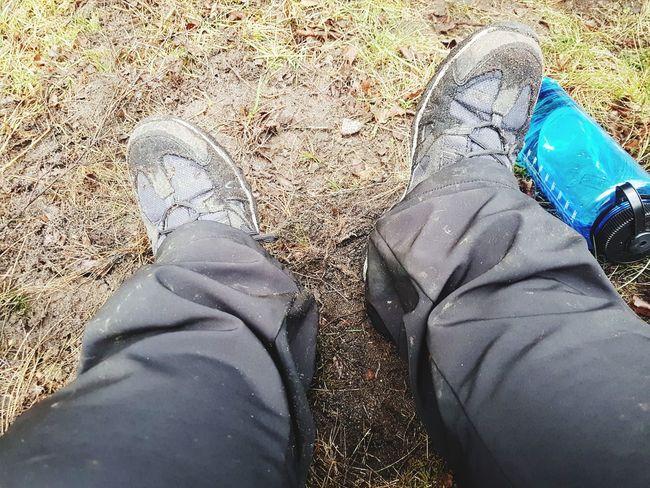 Outdoor Wandern Lüneburgerheide Pause Low Section Human Leg Shoe Standing Human Body Part Personal Perspective Human Foot
