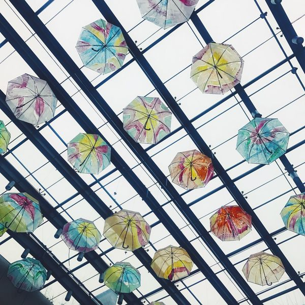 Low Angle View No People Day Multi Colored Architecture Beauty In Nature Sky Umbrella Indoors