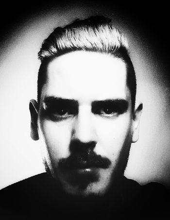Blackandwhite Selfie for Movember