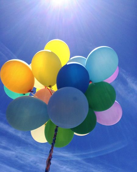 When I can get freedom and fly to sky Blue Day Bright Sunlight Balloon