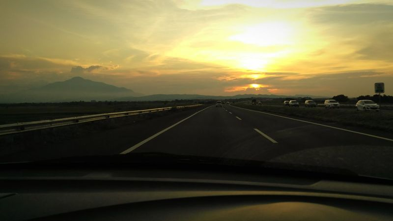 Toll Road Sunset Clouds And Sky Montain And Sky Xiaomiphotography West Java  INDONESIA