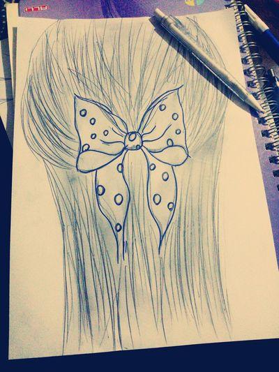 Happy :) çizimim Hayatakarken First Eyeem Photo Peace ✌ Hayat Yetenek Güzellikk Kurdela 😊💗 Hairstyle