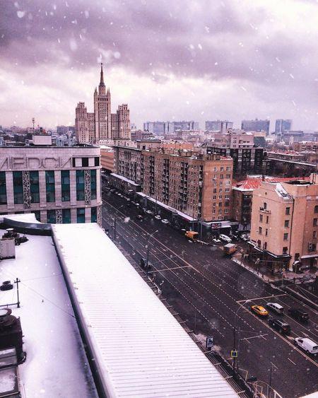 Stalin Skyscraper Architecture Winter Sky Snow Streetphotography City Russia