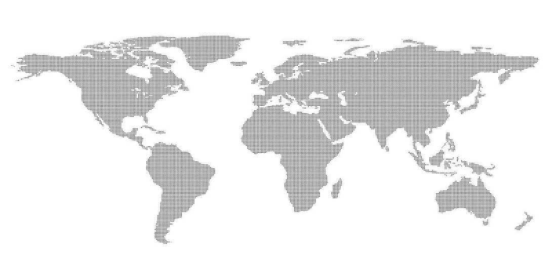 Drawing outline World map isolated on white background. infographics, illustration Business Earth Map Abstract Continent Global Communications Globe Illustration Water World