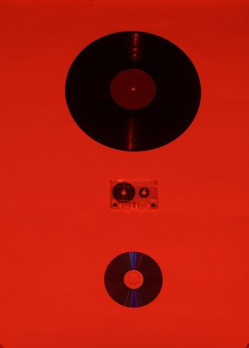 Analog Music Arts Culture And Entertainment Circle Close-up Music No People Old-fashioned Record Red Turntable Vinil