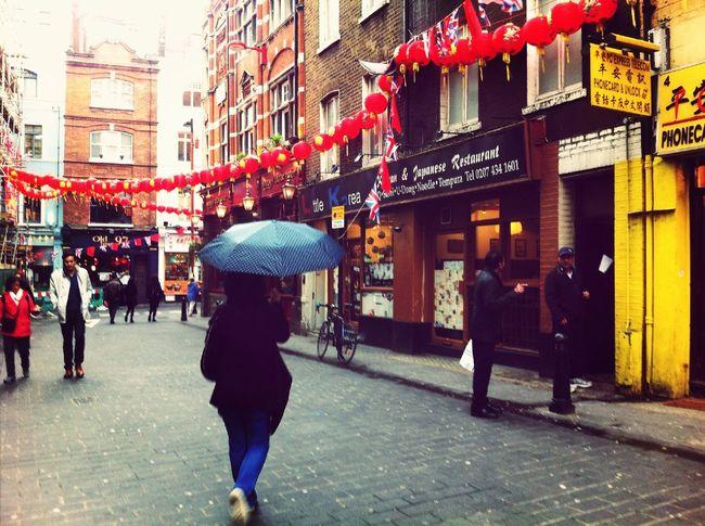 Chinatown Raindrops Walking Around Orange