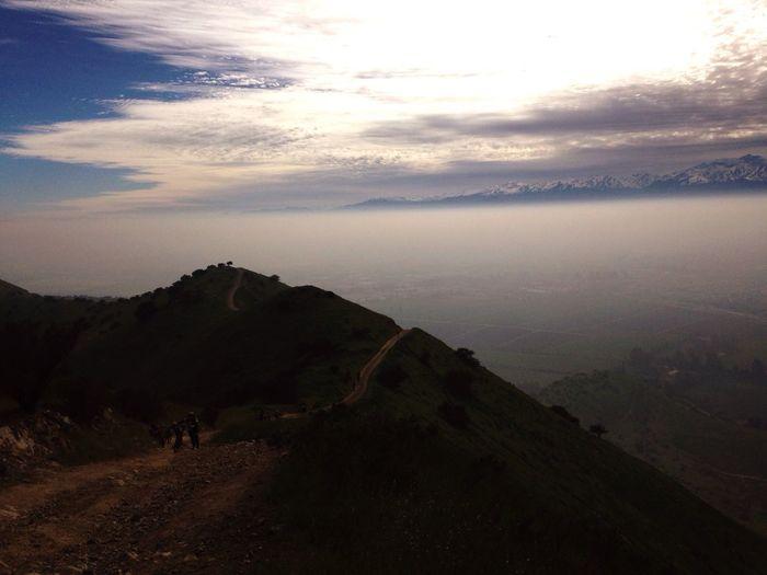 Over Santiago of Chili
