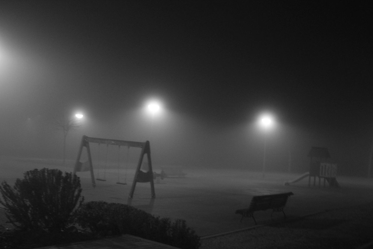 weather, night, nature, winter, sky, outdoors, illuminated, cold temperature, goal post, no people, snow, sport, beauty in nature
