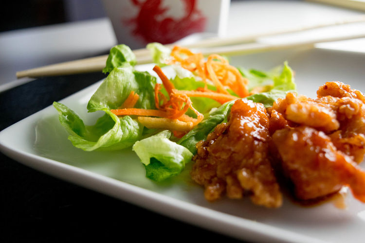 Chicken Chinese Food Chinese Takeout Dinner Orange Chicken Salad Chinese Take Away Chopsticks Close-up Dinner Focus On Foreground Food Food And Drink Food Photography Food Porn Freshness Healthy Eating Indoors  Lettuce Meal Meat No People Plate Ready-to-eat Salad Savory Sauce Selective Focus Serving Size Snack Still Life Table Take Out Food Temptation Tray Vegetable Wellbeing
