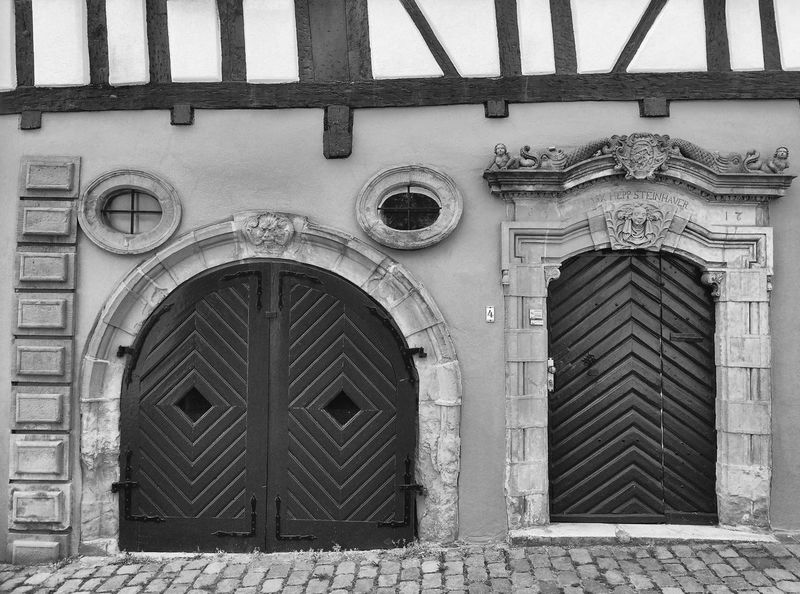 Old friends Arch Architecture Building Building Exterior Built Structure City Closed Day Door Entrance Façade History No People Old Outdoors Protection Safety Security The Past Window