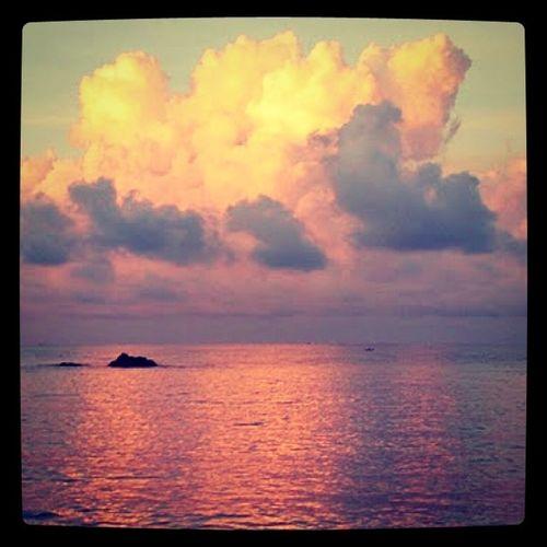 Kho Lanta Watercontest Khophangan Clouds Beach Sun Sunset Thailand Ocean Photooftheday ASIA