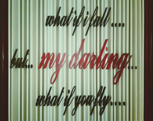 MyDarling  Writing On The Walls Western Script Text Communication Red No People Board Photography