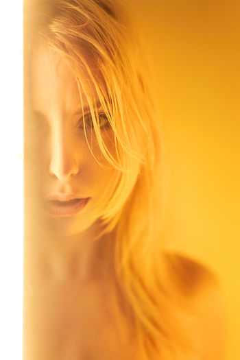 soft light. Beauty Young Adult One Person Beautiful People Beautiful Woman Only Women Adult Abstract Gold Colored Blond Hair Headshot Portrait Close-up One Young Woman Only Young Women One Woman Only People