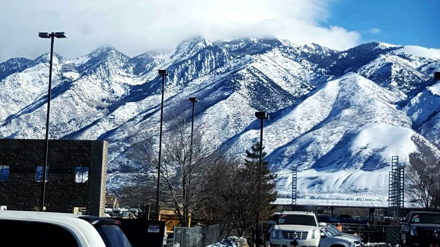 Urban Landscape Mountain Range WasatchFront Utah Living White Album Misty Mountains  Pastel Power Mountains And Valleys It's Cold Outside