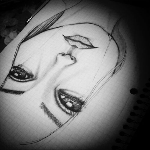 a sad one. My Drawing Sad Face In Tears Blackandwhite