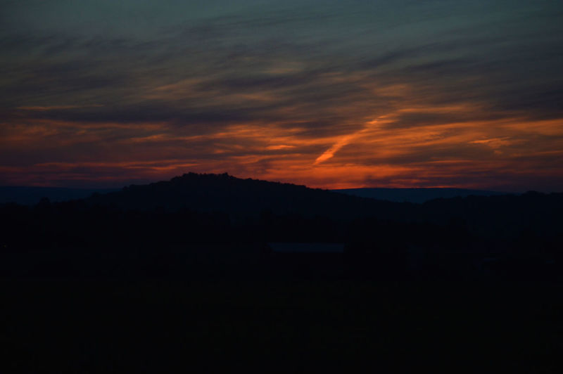 Gettysburg Gettysburg Pennsylvania Gettysburg,pa Mountain Silhouette Mountains Nature Nature At Its Best Nature At Its Finest Orange Color Scenic Sunset Fine Art Photography Fine Art