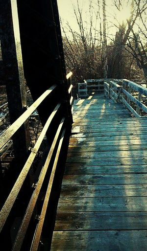 Taking Photos Shadows & Lights Relaxing River Walk Oldtrainbridge End Of The Day Wooden Structure Wood Art Springtime Stairs & Shadows Sunrays