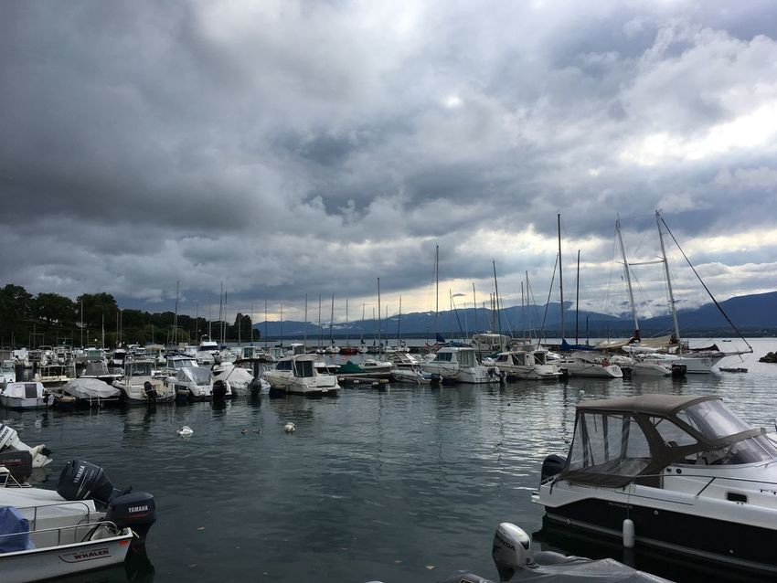 Nautical Vessel Cloud - Sky Transportation Mode Of Transport Sky Moored Harbor Water Boat Mast Outdoors No People Day Sailboat Yacht Nature Sea Travel Destinations Tranquility Scenics