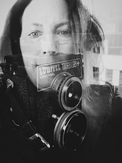 Double Exposure Both Cameras Black And White My Camera