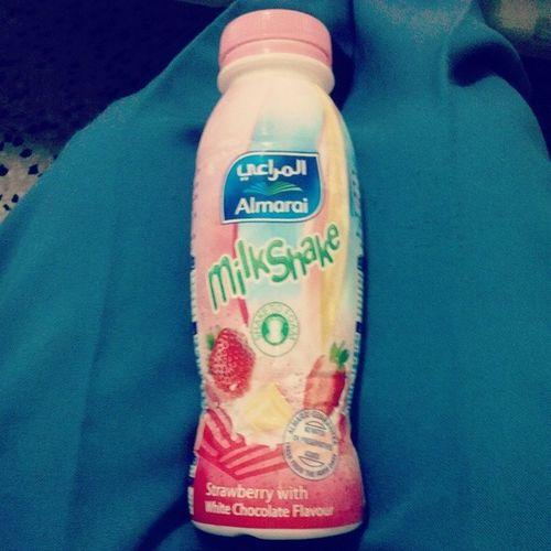 My fave drink so far... Almarai StrawberryMilkshake Jeddah KSA yum love blessed botd instalike instapic instapost