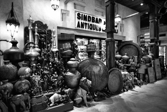Sindbad Antiques | Souk Madinat Jumeirah Traveling Dubai Blackandwhite Art
