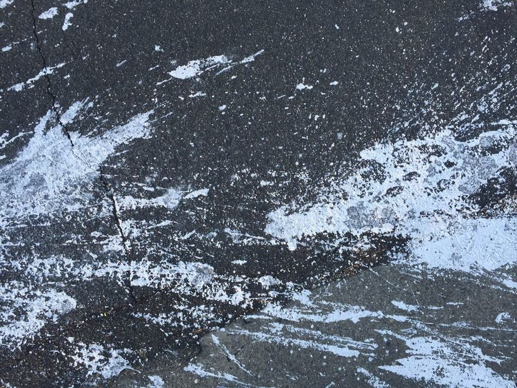 Can you say Jackson Pollock on asphalt?