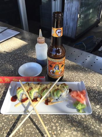 Some dragon roll as the perfection and my beer the queen of the night for happy hour.