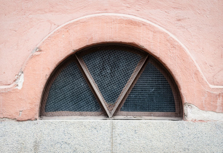 small window Architecture Built Structure No People Arch Building Exterior Day Window Outdoors Building Wall - Building Feature Brick Entrance Closed Concrete Geometric Shape Full Frame Hole Wall Shape Pattern