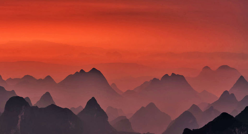 Scenics - Nature Beauty In Nature Sky Mountain Mountain Range Landscape Nature Environment Sunset Sun Cloud - Sky Mountain Peak No People Twilight Tranquility Travel Destinations Dramatic Sky Dawn Tranquil Scene Outdoors