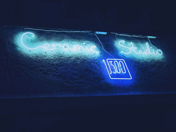 Glowing Illuminated Neon Night Blue Digital Display VSCO Vscocam First Eyeem Photo
