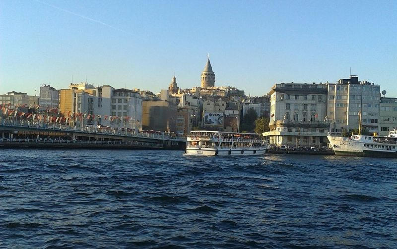 Architecture Cityscape Urban Skyline City Building Exterior Nautical Vessel Travel Destinations Outdoors River Built Structure Waterfront No People Sky Day Water Skyscraper Politics And Government Tall Ship Sailing Ship Istanbul - Bosphorus Galatatower Galata Bridge Istanbul City ıstanbul, Turkey