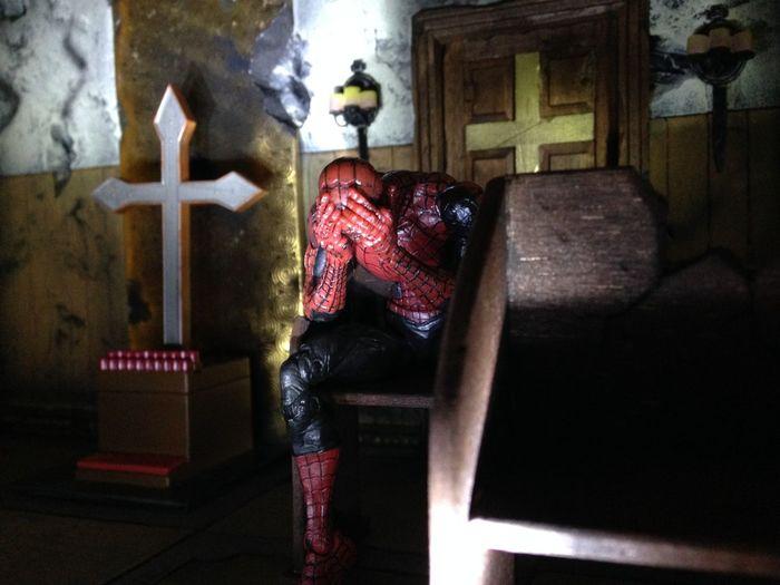 ACBA Articulatedcomicbookart Spiderman Marvellegends Diorama Diostructure