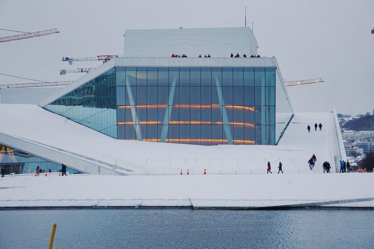 Oslo Opera House During Winter