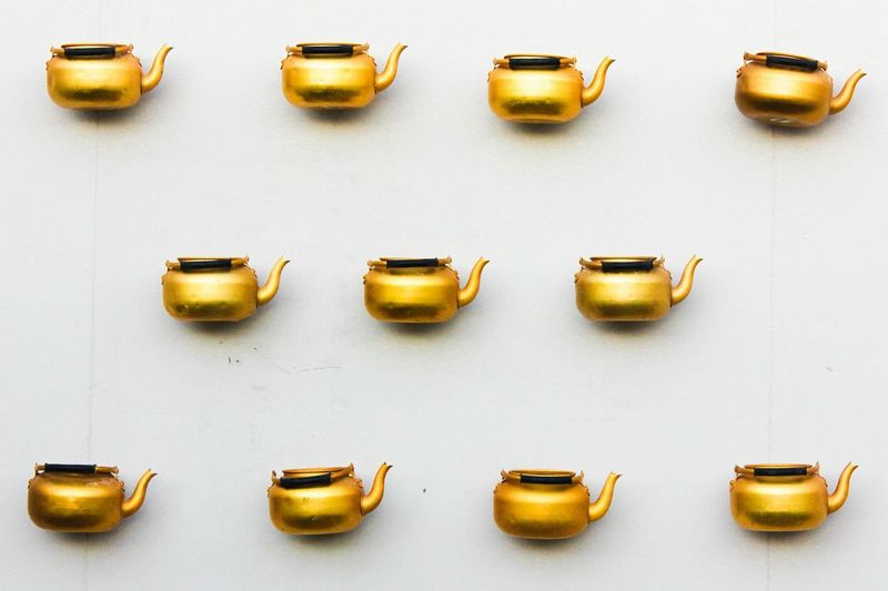 Close-up of objects on white background