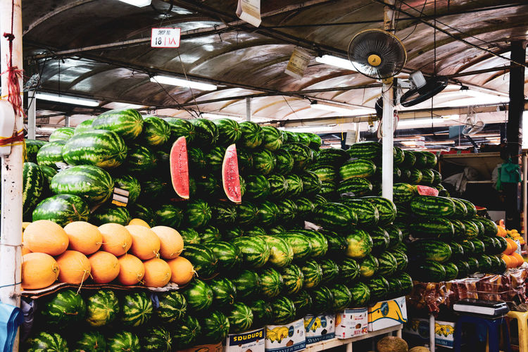 melon Food And Drink Healthy Eating Vegetable Food Market For Sale Retail  Wellbeing Market Stall Choice Freshness Large Group Of Objects Abundance Variation Arrangement Fruit No People Small Business Green Color Stack Retail Display Sale Organic Order Melon