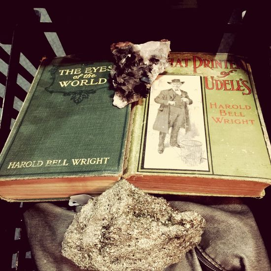 Old Books Smokey Quartz Pyrite