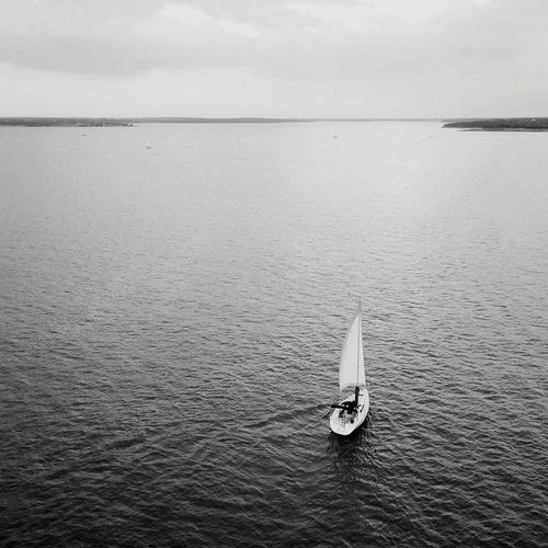 Nautical Vessel Water Blue Sailboat Outdoors Sunset Cloud - Sky Tranquility Sailing Scenics Dronephotography Drone  Drone Dji Droneoftheday Lost In The Landscape