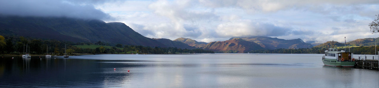 Beauty In Nature Calm Day Idyllic Lake Mountain Mountain Range Nature No People Non-urban Scene Outdoors Scenics Sky Tranquil Scene Tranquility Water Natural Beauty Ullswater Lake District English Countryside Lakeshore Cumbria Pier The Great Outdoors - 2016 EyeEm Awards Panorama