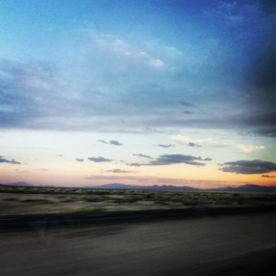 The sunset in New Mexico.