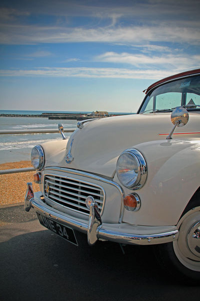 Beach Car Classic Classic Car Classic Cars Close-up Day Horizon Over Water Land Vehicle Minor Mode Of Transport Morris Morris Minor Nature No People Old-fashioned Outdoors Sea Sky Transportation Vintage Water