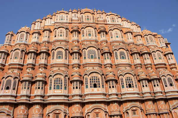 Palace of winds Jaipur Hawa Mahal Palace Jaipur Rajasthan Architecture Building Building Exterior Built Structure City History In A Row Low Angle View No People Palace Of Winds The Past Window