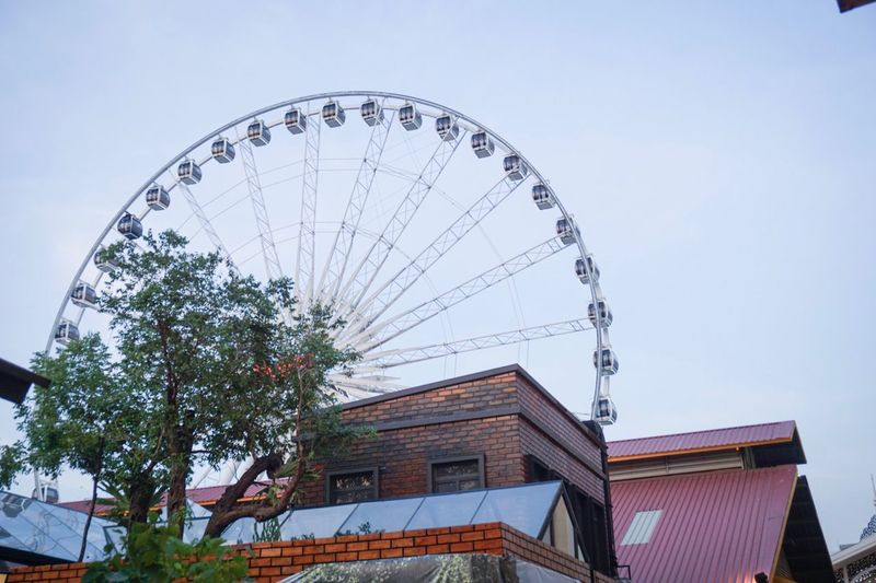 Low Angle View Building Exterior Architecture Built Structure No People Day Outdoors Clear Sky Sky Asiatique The Riverfront