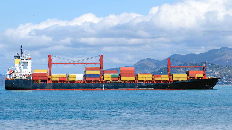Cargo ship at