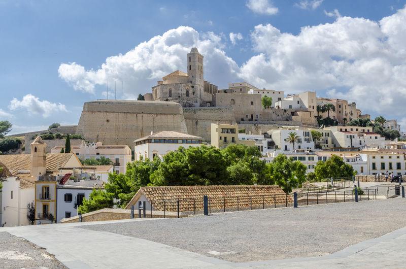 Architecture Built Structure Building Cloud - Sky Sky History Day Travel Destinations No People Ancient Tourism Outdoors Old Ibiza Dalt Vila